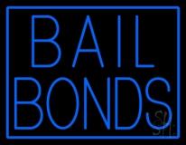 Blue Bail Bonds Neon Sign