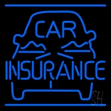 Blue Car Insurance Logo Neon Sign