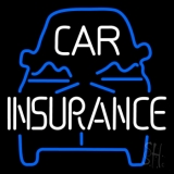 Blue Car Insurance Neon Sign