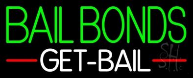 Green Bail Bonds Get Bail Neon Sign