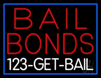 Red Bail Bonds Get Bail Neon Sign