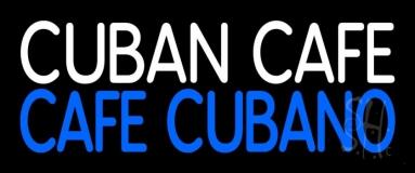Cuban Cafe Block LED Neon Sign