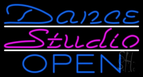 Dance Studio Open Neon Sign