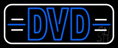 Dvd White Border Neon Sign