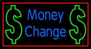Money Change With Dollar Logo Neon Sign