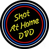Yellow Shot At Home Dvd Neon Sign