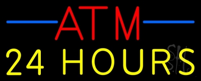 Atm 24 Hrs 1 Neon Sign