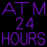 Atm 24 Hrs Neon Sign