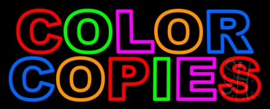 Color Copies 3 Neon Sign