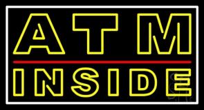 Double Stroke Atm Inside Neon Sign