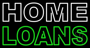 Double Stroke Home Loans Neon Sign