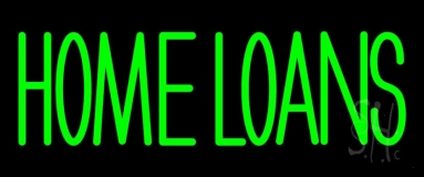 Green Home Loans Neon Sign