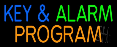 Key And Alarm Program Neon Sign