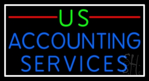 Us Accounting Service 2 Neon Sign