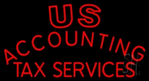 Us Accounting Tax Service Neon Sign