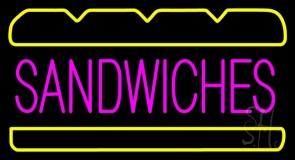 Sandwiches Logo Neon Sign