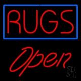Rugs Script1 Open Neon Sign