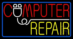 Computer Repair Border Neon Sign