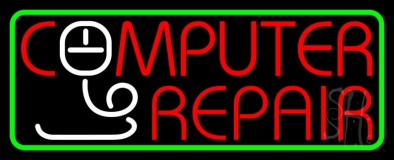 Computer Repair Withmouse Neon Sign