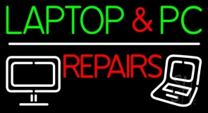 Laptop And Pc Repairs Neon Sign