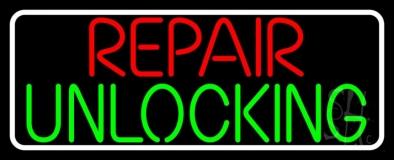 Repair Unlocking Border Neon Sign