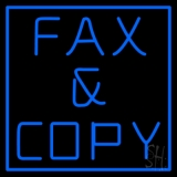 Blue Fax And Copy 1 Neon Sign