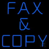 Blue Fax And Copy Neon Sign