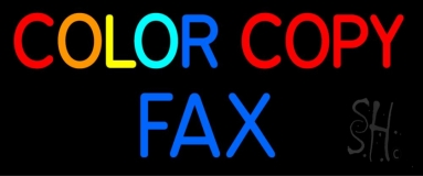 Color Copy Fax 2 Neon Sign