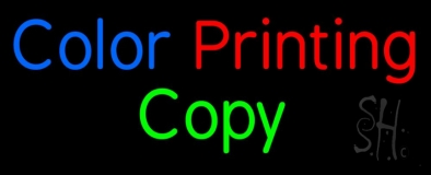 Color Printing Copy Neon Sign