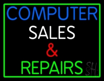Computer Sales And Repairs Neon Sign
