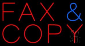 Fax Copy Neon Sign