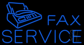 Fax Services With Logo Neon Sign