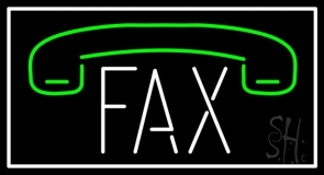 Fax With Logo Neon Sign