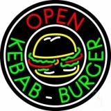 Kebab Burger Open Circle Neon Sign