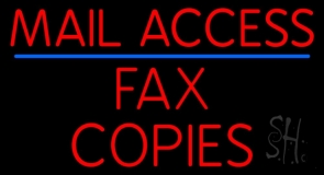 Mail Access Fax Copies Neon Sign