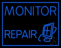 Monitor Repairs Neon Sign