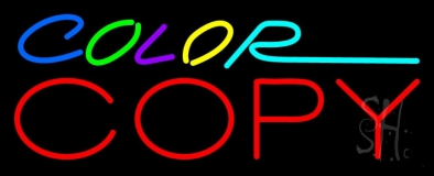Multi Colored Color Copy Neon Sign