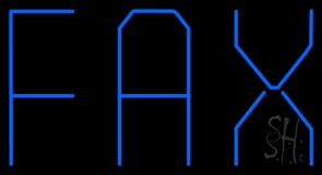 Blue Fax Neon Sign