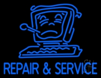 Computer Logo Repair And Service 2 Neon Sign