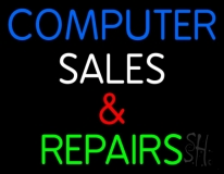 Computer Sales And Repairs 1 Neon Sign