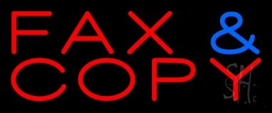 Fax Copy 2 Neon Sign