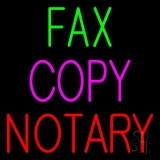 Fax Copy Notary 1 Neon Sign