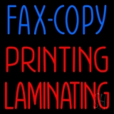 Fax Copy Printing Laminating 1 Neon Sign