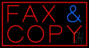 Fax Copy With Border Neon Sign