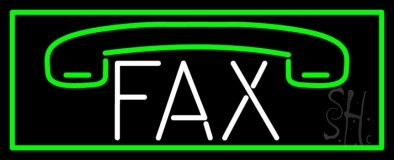 Fax Logo With Border 2 Neon Sign