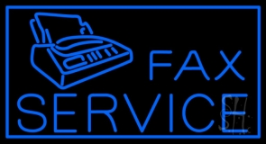 Fax Services Border With Logo Neon Sign