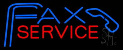 Fax Service With Logo 2 Neon Sign