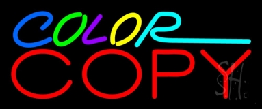 Multi Colored Color Copy 1 Neon Sign