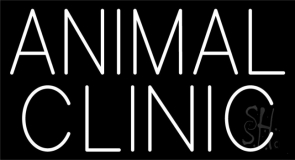Animal Clinic Block Neon Sign