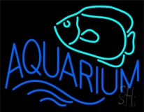 Aquarium with Fish Logo Neon Sign